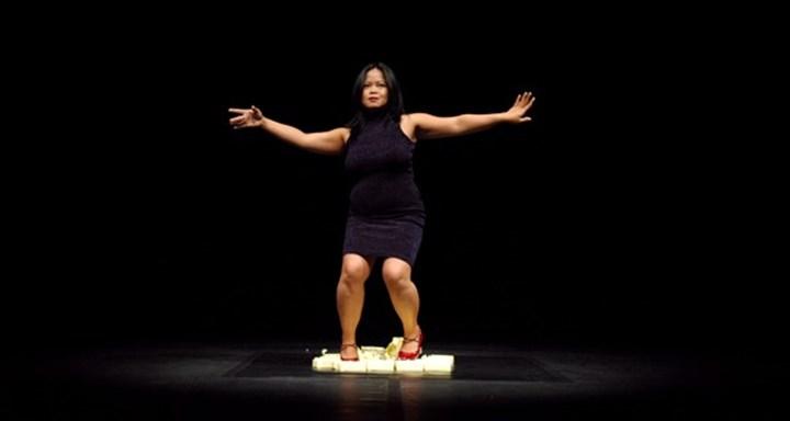 Melati Suryodarmo, Exergie—Butter Dance (2000). Documentation of performance. Courtesy the artist.