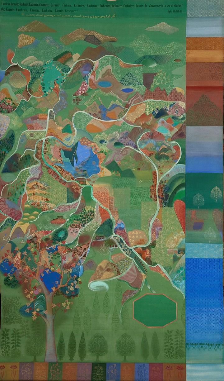 Valley (2003). Casein tempera on canvas. 304.8 x 182.8 cm. Courtesy the artist and Chemould Prescott Road.