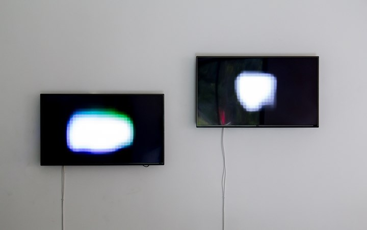 Pak Sheung Chuen, That Two Spots of Light (2006–2016). 3 channel video installation. Exhibition view: Pak Sheung Chuen: That Light, Mirrored Gardens, Vitamin Creative Space, Guangzhou (17 December 2016–26 February 2017). Courtesy Vitamin Archive.