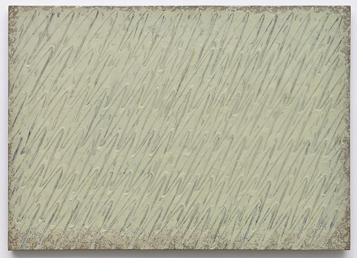 Park Seo-Bo, Ecriture No. 235-85 (1985). Pencil and oil on hemp cloth. 65.1 x 90.9 cm. Courtesy the artist and Kukje Gallery.