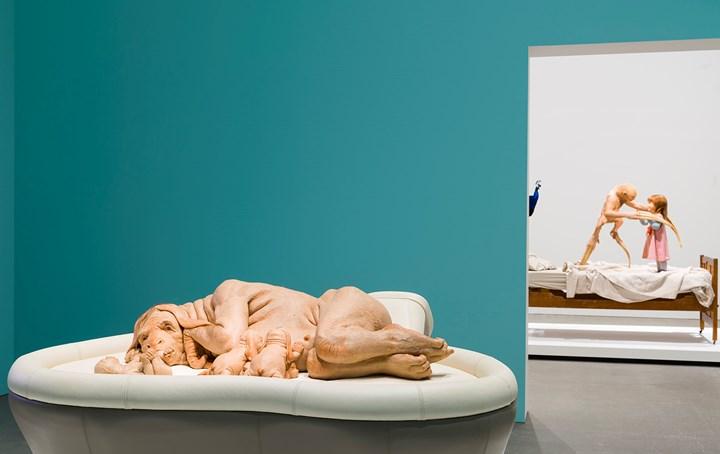 Patricia Piccinini, The Young Family (2002). Exhibition view: Patricia Piccinini: Curious Affection, Gallery of Modern Art, Brisbane (24 March–5 August 2018). Courtesy QAGOMA. Photo: Natasha Harth.