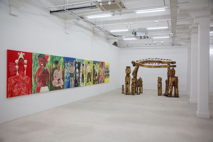 Busui Ajaw, Ayaw Jaw Bah (2019). Exhibition view: Every Step in the Right Direction, Singapore Biennale 2019, Singapore Art Museum (22 November 2019–22 March 2020). Courtesy Singapore Art Museum.