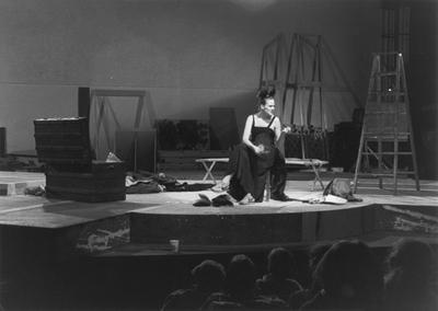 Rose English, Plato's Chair, Montréal (1983). Digital transfer from Umatic videotape, colour, stereo sound. 85 min 40 sec. © the artist. Courtesy Richard Saltoun Gallery.