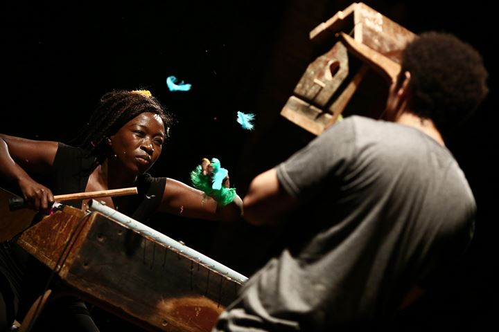 Kemang Wa Lehulere, I cut my skin to liberate the splinter (2017). Performance view: Performa 17, The Connelly Theater, New York City (1–19 November 2017). A Performa Commission. Courtesy Performa. Photo: © Paula Court.