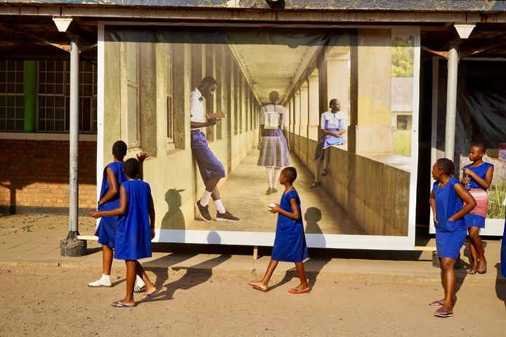 Gosette Lubondo, 'Imaginary Trips II' (2018). Exhibition view: Lubumbashi Biennale, Lycée Tuendelee, Lubumbashi (24 October–24 November 2019). Photo: © Julien De Bock.