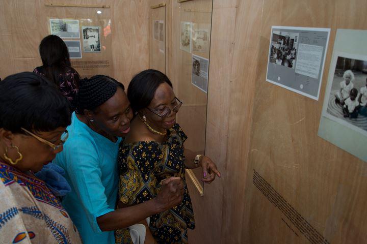Exhibition view: The Recaptioning Project, Lubumbashi Biennale, Lubumbashi (24 October–24 November 2019). Photo: © Julien De Bock.