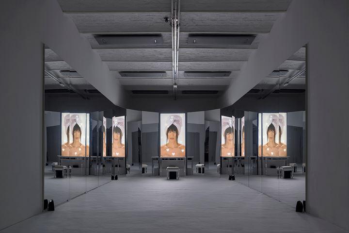 Exhibition view: Sophia Al-Maria, Mirror Cookie, Project Room #10, Fondazione Arnaldo Pomodoro, Milan (14 March–31 May 2019). Courtesy Fondazione Arnaldo Pomodoro. Photo: Carlos Tettamanzi.