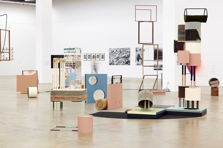 Suki Seokyeong Kang, Black Mat Oriole (2011–2016). Paintings, sculptures, video, installation. Exhibition view: Gwangju Biennale 2016: The Eighth Climate (2 September–6 November 2016). Courtesy the artist and Gwangju Biennale.