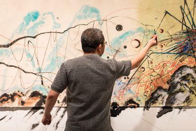Sun Xun, Untitled (MCA Residency Painting) (2018). Mixed media. Exhibition view: Sun Xun, Museum of Contemporary Art Australia, Sydney (9 July–14 October 2018). Courtesy the artist and Museum of Contemporary Art Australia. © Sun Xun. Photo: Jacquie Manning.