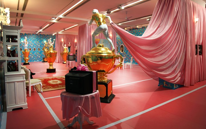Exhibition view: Thukral and Tagra, Match-Fixed/Fixed-Match, Ullens Center for Contemporary Art, Beijing (2010). Courtesy the artists.