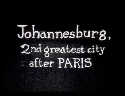 William Kentridge, Johannesburg, 2nd greatest city after Paris (1989) (Still). Courtesy the artist.