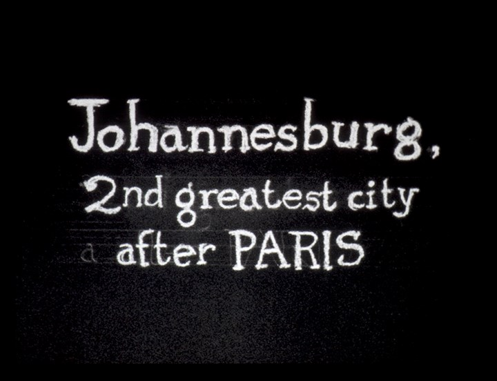 William Kentridge, Johannesburg, 2nd greatest city after Paris (1989) (Still). Courtesy the artist.