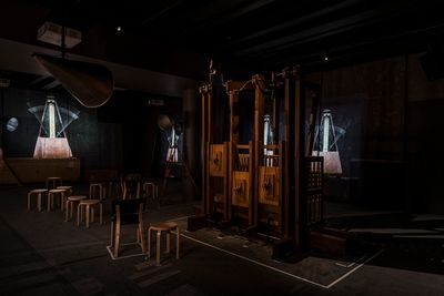 William Kentridge, The Refusal of Time (2012). Exhibition view: The Refusal of Time, Kunsten Museum of Modern Art Aalborg (21 March 2018–19 August 2018). Courtesy the artist. Photo: Niels Fabaek.