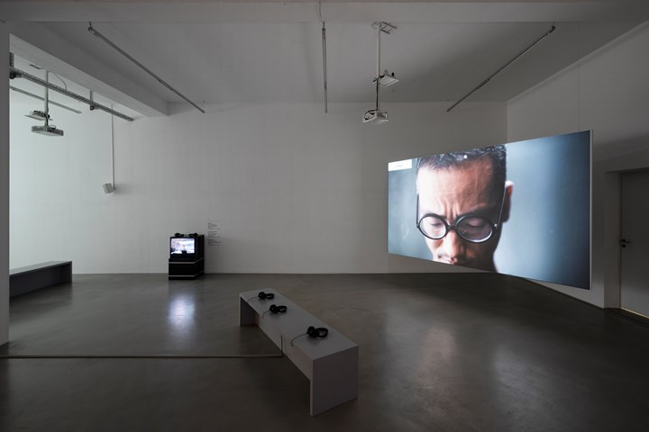 Jiang Zhi, Words (2018). Exhibition view: Episode I, Urban Explosion, The D-Tale, Video Art from the Pearl River Delta, Times Art Center Berlin (1 December 2018–12 January 2019). Courtesy Times Art Center Berlin. Photo: graysc.de.
