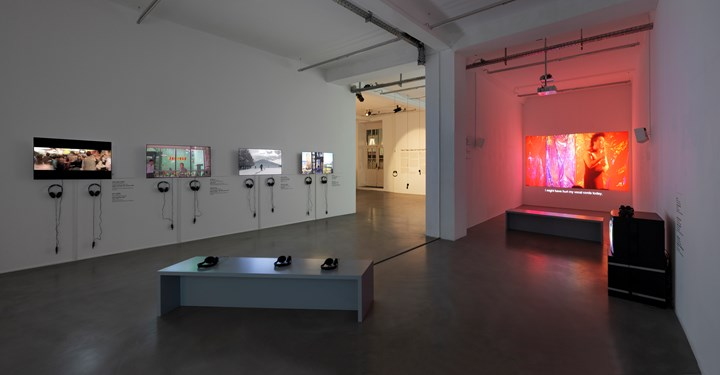 Exhibition view: Episode I, Urban Explosion, The D-Tale, Video Art from the Pearl River Delta, Times Art Center Berlin (1 December 2018–12 January 2019). Courtesy Times Art Center Berlin. Photo: graysc.de.