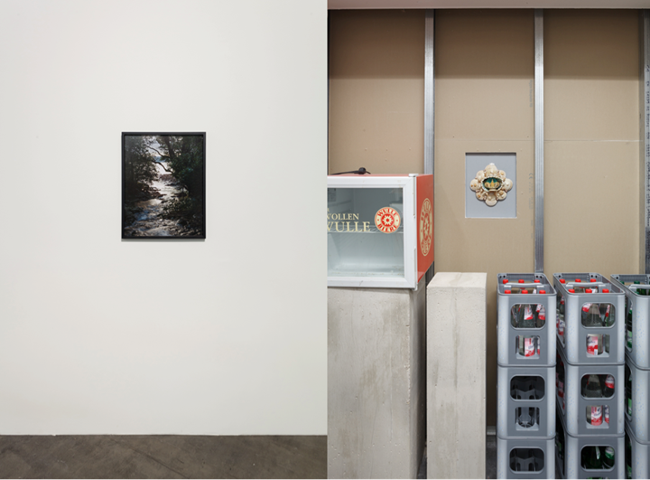 Zac Langdon-Pole, motherland (2015). Exhibition view: Parked Like Serious Oysters: Graduates of the Stadelschule, MMK Museum für Moderne Kunst, Frankfurt am Main (14 October–15 November 2015). Courtesy the artist, Michael Lett Gallery, and STATION Gallery. Photo: Axel Schneider.