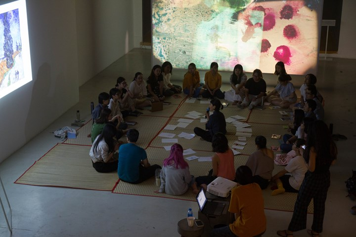 'Appreciating Art Through Writing', Trương Uyên Ly, workshop at The Factory Contemporary Arts Centre, Ho Chi Minh (20 June 2019). Courtesy The Factory Contemporary Arts Centre.