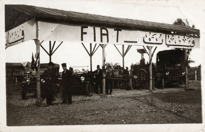 Fiat cars are shown at Adana Agricultural Fair in 1924.