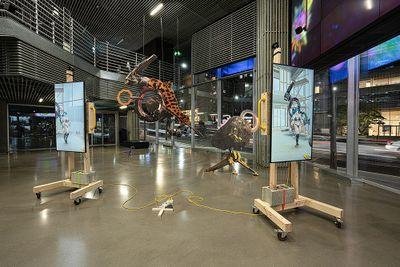 Mariia Fedorova, Pandemic Chronotope (2020). Exhibition view: World on a Wire, Hyundai Motorstudio, Seoul (7 May–8 August 2021).