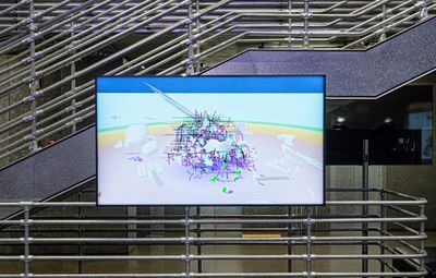 ZZYW, ThingThingThing (2019). Exhibition view: World on a Wire, Hyundai Motorstudio, Seoul (7 May–8 August 2021).