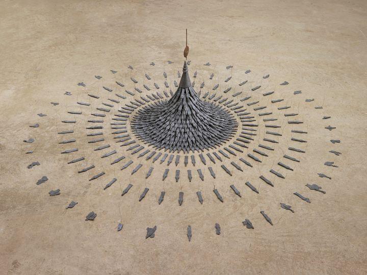 Cornelia Parker, Fleeting Monument (1985). Courtesy Arts Council Collection, Southbank Centre, London. © the artist.