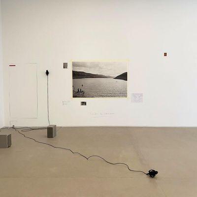 Farah Mulla, Aural Mirror (2013) and notations by Jaisingh Nageswaran on view in Growing Like A Tree: Static In The Air, curated by Sohrab Hura at Ishara Art Foundation, Dubai (11 September–9 December 2021).