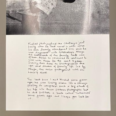 Detailed view of 'Intimacies' by Kushal Ray on view in Growing Like A Tree: Static In The Air, curated by Sohrab Hura at Ishara Art Foundation, Dubai (11 September–9 December 2021).