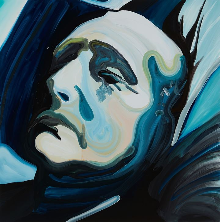 Clare Woods, The Allnighter (2019). Oil on aluminium. 150 x 150 x 3 cm. Courtesy Simon Lee Gallery.