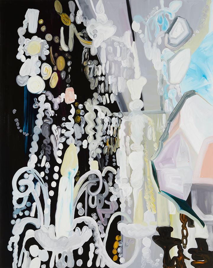 Clare Woods, Notes on Madness (2019). Oil on aluminium. 250 x 200 x 3 cm. Courtesy Simon Lee Gallery.