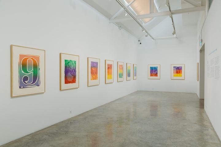 Exhibition views: Jasper Johns, Roy Lichtenstein, Robert Rauschenberg and James Rosenquist, Handmade Readymades, STPI, Singapore (9 June–8 September 2018). Courtesy STPI – Creative Workshop & Gallery.