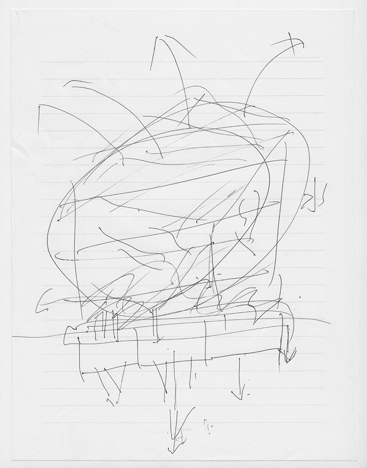 Drawing by a former resident of the Fukushima Dai¬ichi Nuclear Power Plant meltdowns. Courtesy Don't Follow the Wind.