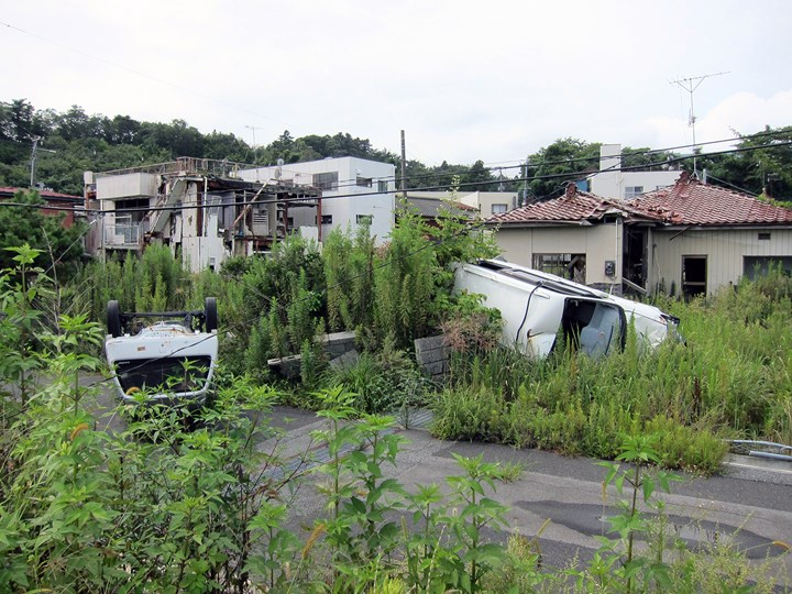 View of the Fukushima exclusion zone. Courtesy Don't Follow the Wind.