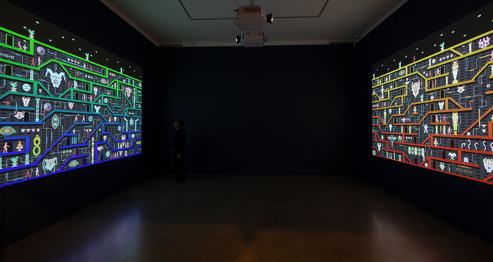 Exhibition view: Jess Johnson and Simon Ward, Terminus, Heide Museum of Modern Art, Melbourne (2 November 2019–1 March 2020). Courtesy Heide Museum of Modern Art. Photo: Christian Capurro.