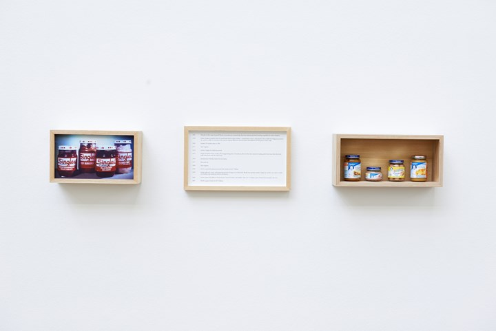 Maryam Jafri, Product Recall: An Index of Innovation. Gerber (2014–2015). Framed texts, photographs, objects. Courtesy the artist and Laveronica arte contemporanea.