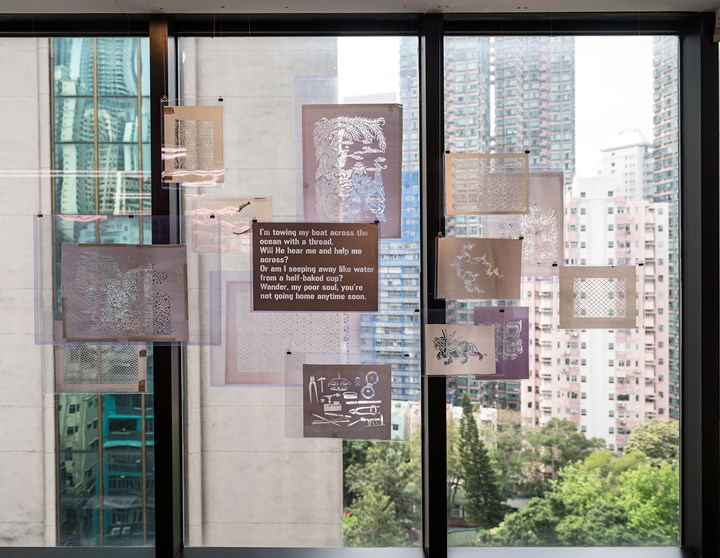 Exhibition view: Lines of Flight: Nilima Sheikh Archive, Asia Art Archive Library, Hong Kong (22 March–30 June 2018). Courtesy Asia Art Archive. Photo: Kitmin Lee.
