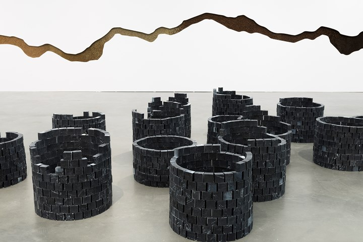 Otobong Nkanga, Carved To Flow (2017–2018). Exhibition view:  To Dig a Hole That Collapses Again, MCA Chicago (31 March–2 September 2018). Courtesy © MCA Chicago. Photo: Nathan Keay.