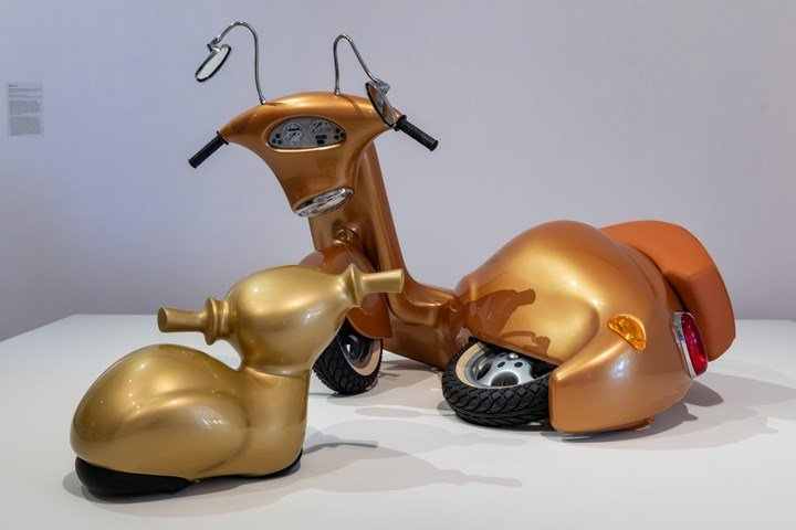Patricia Piccinini, Nest (2006). Exhibition view: Patricia Piccinini & Joy Hester: Through love ..., TarraWarra Museum of Art (25 November 2018–11 March 2019). National Gallery of Victoria, Melbourne collection; Purchased, Victorian Foundation for Living Australian Artists, 2006. Courtesy the artist, Tolarno Galleries, Melbourne, and Roslyn Oxley9 Gallery, Sydney. Photo: Rick Liston.