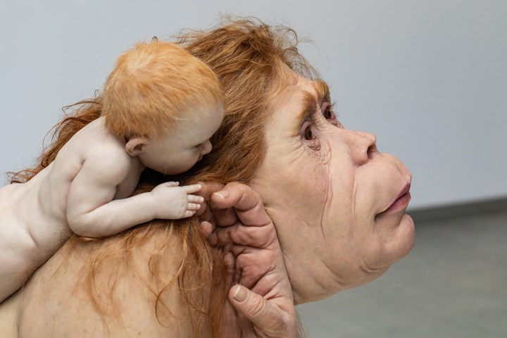 Patricia Piccinini, Kindred (detail) (2018). Exhibition view: Patricia Piccinini & Joy Hester: Through love ..., TarraWarra Museum of Art (25 November 2018–11 March 2019). The Michael and Janet Buxton Collection, Melbourne. Courtesy the artist, Tolarno Galleries, Melbourne, and Roslyn Oxley9 Gallery, Sydney. Photo: Rick Liston.