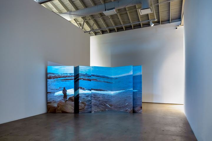 Patty Chang, Invocation for a Wandering Lake, Part I (2015). Exhibition view: Patty Chang: The Wandering Lake, 2009–2017, Institute of Contemporary Art, Los Angeles (17 March–4 August 2019). Courtesy Institute of Contemporary Art, Los Angeles.