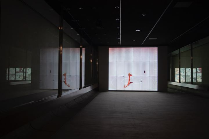 Ian Cheng, BOB (Bag of Beliefs) (2018–2019). Exhibition view: If the Snake, Okayama Art Summit (27 September–24 November 2019). Collection of Ishikawa Foundation, Okayama. Courtesy the artist, Pilar Corrias, and Gladstone Gallery. Photo: Ola Rindal.