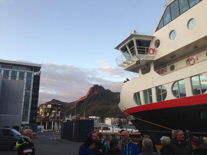 Coast Contemporary participants board Hurtigruten's MS Trollfjord Ship. Photo: Cathryn Drake