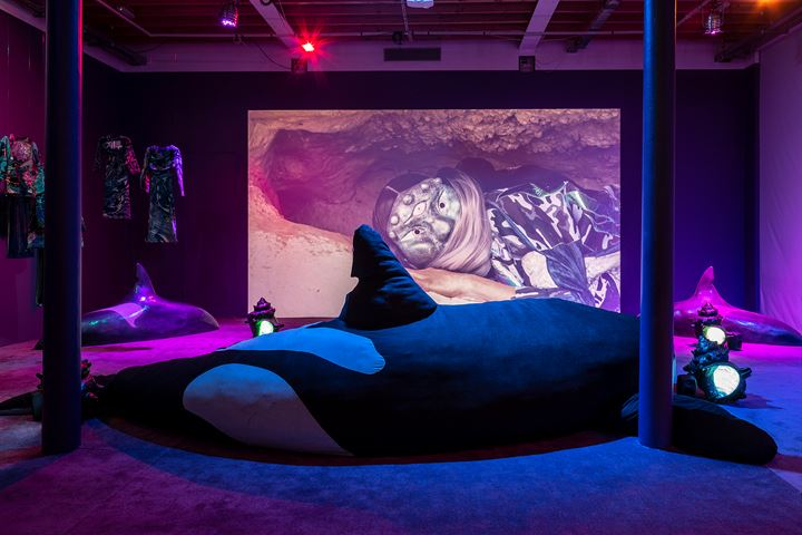 Exhibition view: Zadie Xa, Child of Magohalmi and the Echoes of Creation, Tramway, Glasgow (26 October–15 December 2019). Conceived in collaboration with Benito Mayor Vallejo. Courtesy the artist. Photo: Keith Hunter.