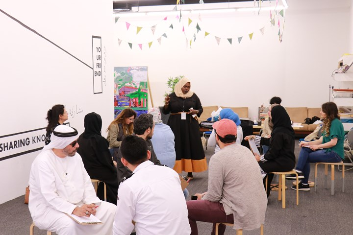 Gudskul, Speculative Collective (2019). SB14 Activation, Collections Building, part of Leaving the Echo Chamber, Sharjah Biennial 14 (7 March–10 June 2019). Courtesy Sharjah Art Foundation.