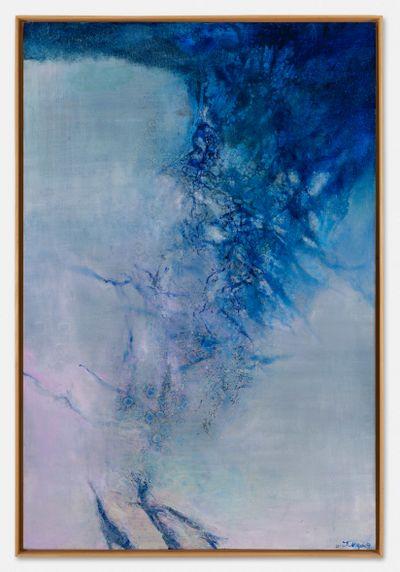 Zao Wou-Ki, 21.11.03 (2003). Oil on canvas. 195 x 130 cm. © Artists Rights Society (ARS), New York. 195 x 130 cm.