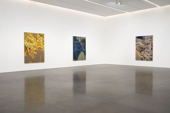 Exhibition view: Nigel Cooke: New Paintings, Pace Gallery, New York (31 January–29 February 2020). Courtesy © Nigel Cooke and Pace Gallery.