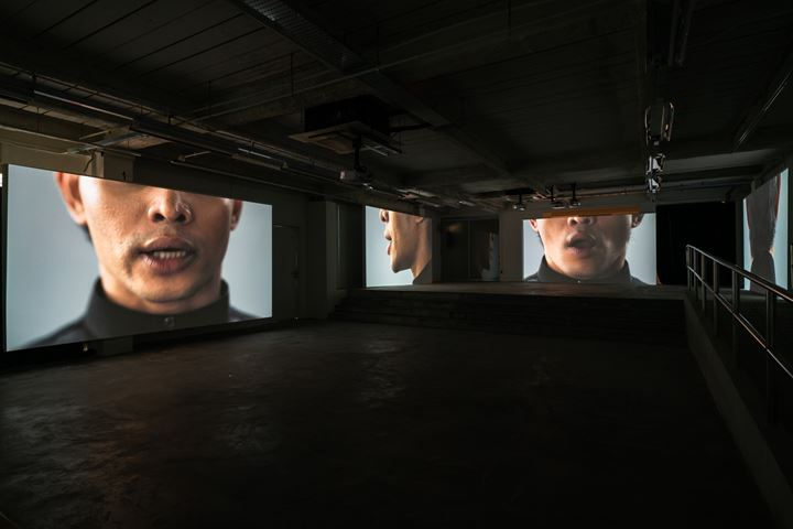 Arin Rungjang, Shooting an Elephant and The Leader (2018). Video installation; 10-channel animation with audio. Edition of 3 + AP. Courtesy ShanghART.