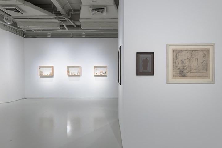 Exhibition view: Gianfranco Baruchello, Marcel Duchamp, Massimo De Carlo, Hong Kong (14 September-28 October 2017). Courtesy the artist and Massimo De Carlo.