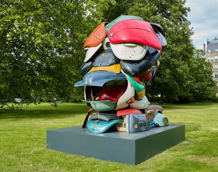 Zak Ové, Autonomous Morris (2018). Exhibition view: Frieze Sculpture, Regent's Park, London (3 July–6 October 2019). Courtesy Lawrie Shabibi, Stephen White/Frieze. Photo: Stephen White.