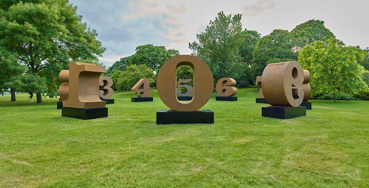 Leiko Ikemura, Usagi Kannon II (2013–2018). Exhibition view: Frieze Sculpture, Regent's Park, London (3 July–6 October 2019). Courtesy Kewenig Gallery, Stephen White/Frieze. Photo: Stephen White.