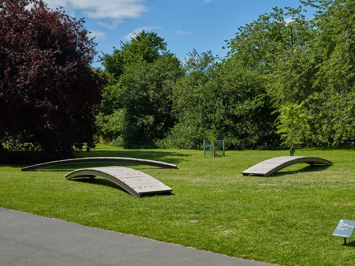 Iván Argote, Bridges (We are melting) (2019). Exhibition view: Frieze Sculpture, Regent's Park, London (3 July–6 October 2019). Courtesy Perrotin, Stephen White/Frieze. Photo: Stephen White.